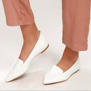 Lulus Emmy White Pointed Loafers